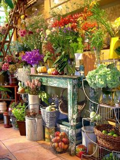 Pin by on floral shop ideas in 2019 flower ma Blue Flower Arrangements, Quirky Home Decor, Flower Market, Flower Shops, Garden Shop, Shop Window Displays, Shop Interiors, Red Roses, Beautiful Flowers