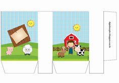 "Kit Personalizados Tema ""Fazendinha Menino"" para Imprimir - Convites Digitais Simples"