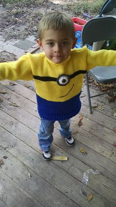 knitted minion sweater