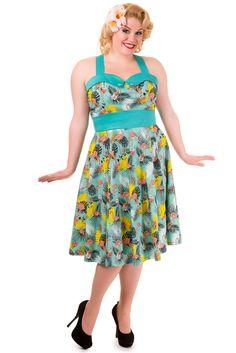 NEW! Tropical Flamingo Wanderlust Dress