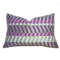 Modern Geometric Gray Purple Colorblock Chevron Zig Zag Pillow Cushion Zipper Cover Modern Pillow Covers, Modern Pillows, Chevron Fabric, Woven Fabric, All Covers, Scarf Design, Backrest Pillow, Fabric Samples, Fabric Weights