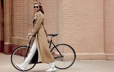 Menswear and bike. Totally chic.