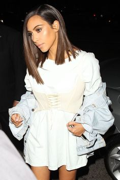 Hair cuts medium kim kardashian Ideas for 2019 Estilo Kardashian, Looks Kim Kardashian, Kardashian Style, Kardashian Jenner, Kim Kardashian Haircut, Kim Kardashian Hairstyles, Kim Kardashian Nails, Celebs, Celebrities