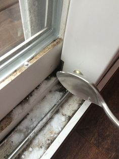 Clean Dirty Window Tracks With Vinegar And Backing Soda