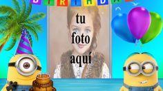 Feliz Cumpleaños Con Minions Marcos para fotos Happy Birthday Frame, Happy Birthday Pictures, Coca Cola, Gifs, Happy Birthday Greeting Cards, Flower, Pink, Happy Birthday Funny, Happy Birthday Text
