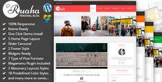Ruaha : Responsive Personal Blog WordPress Theme