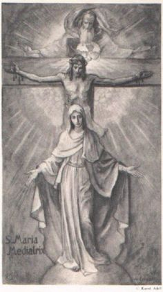 God put Jesus and Mary stomach. Mary gave birth to Jesus. Catholic Prayers, Catholic Art, Religious Art, Roman Catholic, Religious Pictures, Jesus Pictures, Blessed Mother Mary, Blessed Virgin Mary, Mother Teresa