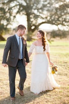 And she wore her mother's gown. Photography by ryanpricephoto.com  Read more - http://www.stylemepretty.com/2013/06/06/natural-outdoor-texas-ranch-wedding-from-ryan-price-photography/