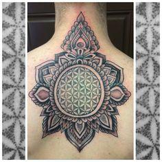 Karina Figueroa; Amillion Tattoo, Austin TX USA   geometric stippling blackwork