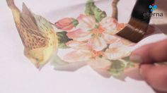 Toalla con Decoupage Decopage, Tableware, Adhesive, Towels, Paintings, Flowers, Dinnerware, Dishes