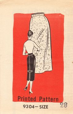Vintage Marian Martin Mail Order Pattern for Pencil Skirt, 1956, UNCUT and Factory Folded by ilovevintagestuff on Etsy https://www.etsy.com/listing/221604714/vintage-marian-martin-mail-order-pattern