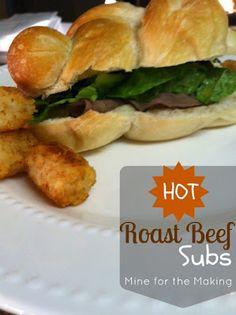 Hot Roast Beef Subs...easy weeknight dinner recipe