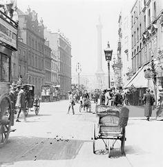 Trafalgar Square from Whitehall, London, c1890.