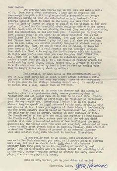 Jack Kerouac letter to Marlon Brando