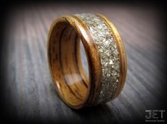 Favorite wood that isn't black | Steam BentWood Ring Zebra Wood with Wide by JETbentwoodjewelry, $145.00