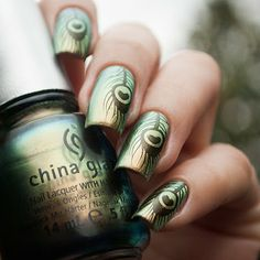 China Glaze Rare Radiant Nailz Craze 01 Bliss Kiss Stamping Nail Art Design Ideas