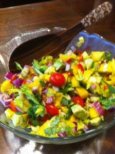 Avocado Mango Tomatoes Salad Recipe