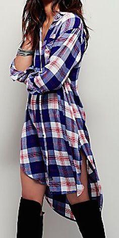cute blue plaid dress