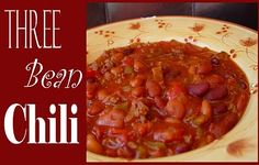 Jamie Cooks It Up!: Three Bean Chili