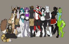 Anime Wolf Furry | Furry pride project - Flats by *l-Blair-l on deviantART