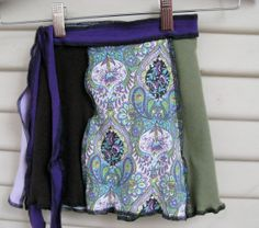 Bohemian Kouture Upcycled Clothing Girls Cotton Knit WRAP SKIRT