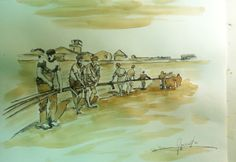Arte xavega pintura com xafé