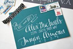 calligraphy #envelope #handlettering #wedding #invitation #details