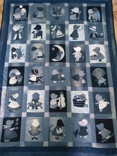 6513.🔴 ИДЕЯ. Jean Crafts, Denim Crafts, Patchwork Quilting, Applique Quilts, Quilting Projects, Sewing Projects, Blue Jean Quilts, Denim Art, Cat Quilt