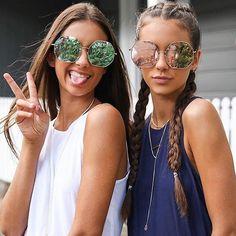 Sister cuteness @peppermayo wearing Kiss N Tell  #quayaustralia #sunglasses…