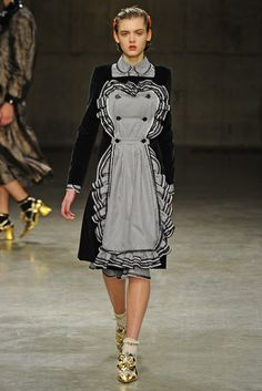 Meadham Kirchhoff RTW Fall 2013 (clearly inspired by Downton Abbey!)