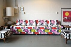 Painting the Roses Red sofa from Spruce Home