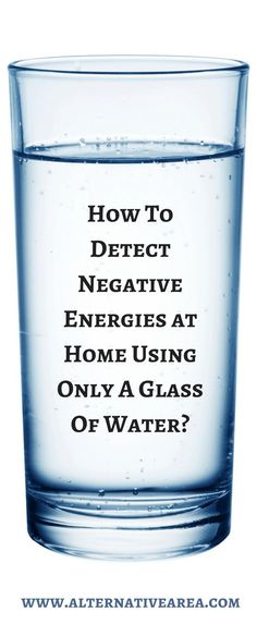 There are many techniques that can help you detect negative energies in your home. Today we're going to show you the simplest one which will clean neg ...