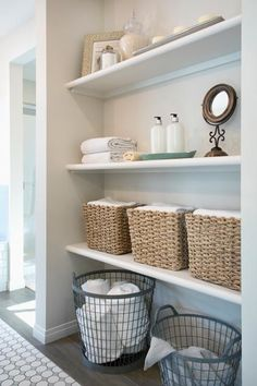 Looking for the best linen closet organization ideas? Check out these easy ways to organize your linen closet, so you can store your sheets neatly and create a comfortable guest experience at the same time. Bathroom Shelves, Bathroom Storage, Small Bathroom, Bathroom Ideas, Ikea Bathroom, Bathroom Plants, Modern Bathroom, Master Bathroom, Bathroom Renovations