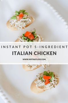 Instant Pot Italian Chicken - Instant Loss - Conveniently Cook Your Way To Weight Loss Clean Eating Recipes, Healthy Recipes, Blender Recipes, Healthy Food, Dump Recipes, Ninja Recipes, Oven Recipes, Fall Recipes, Yummy Food