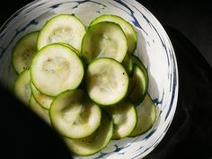 Pickled cucumber acts as a perfect foil for oily smoked fish – smoked salmon or mackerel for example.