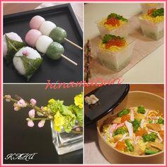 カップ寿司でひな祭り