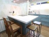Diseño de cocinas en Cocina Colonial azul, Madrid- Galería de proyectos realizados - Línea 3 Cocinas, Diseño de cocinas en Madrid, reforma de cocinas en Madrid, decoración de cocinas en Madrid