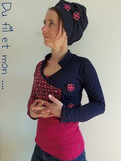 Du fil et mon... Boléro Ollo Crochet Clothes, Diy Clothes, Clothes For Women, Clothing Items, Clothing Patterns, Tweed Outfit, Shrugs And Boleros, Hoodie Pattern, Saree Blouse Designs