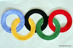 Atividade sobre as Olimpíadas: Confeccionar os anéis olímpicos com pratinhos! - ESPAÇO EDUCAR