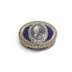 A jewelled gold and enamel Royal Presentation portrait snuff box, The inscription reads: Donné par le Roy / à M. Talon / le 6 7bre 1791 Presented to Antoine-Omer Talon, marquis du Boulay et de Tremblay-le-Vicomte (1760-1811), by Louis XVI in gratitude for services rendered during the Royal family's flight to Varennes in June 1791.