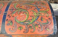 Norwegian Hallingdal Bridal Trunk Rosemaling Folk Art 1877 Scandinavian Norway | eBay