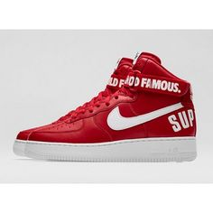 SUPREME X AIR FORCE 1 HIGH RED Available at http://ajaysfoot.com