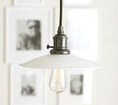 Pottery Barn Classic Pendant Easton Glass ($99) - Simple, beautiful, industrial pendant. Sometimes things don't need to be so fussy.