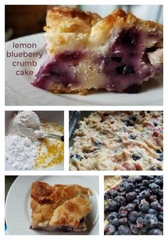 Delicious lemon blueberry crumb cake is a terrific dish to make for your next party Sweets Recipes, Fun Desserts, Snack Recipes, Crumb Topping Recipe, Blueberry Picking, Something Sweet, Favorite Recipes, Eat, Lemon