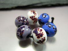Set of 6 handmade Lampwork Beads by GlassBeadArt by GlassBeadArt, €5.40