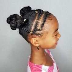 New Hairstyle Ideas 2020 Braided Bun Hairstyles for Black Hair 2020 Little Black Girl Hairstyles Pretty Braided Hairstyles, Cute Prom Hairstyles, Black Hair Updo Hairstyles, Natural Hairstyles For Kids, Baby Girl Hairstyles, Natural Hair Updo, Black Girls Hairstyles, Natural Hair Styles, Childrens Hairstyles