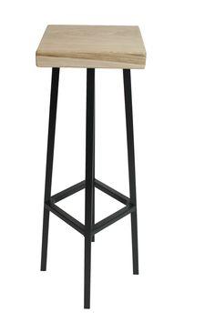 Handmade stool.  Model name: Hoker High Material: Steel, Oak Height: 83cm
