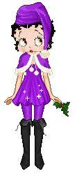 Betty Boop.....I'm having a purple Christmas!