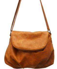 8e255ce13ec Honey - Amber Crossbody Leather Flap Bag - Handmade Great space