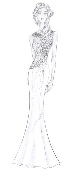fashion sketch  by Caroline Weinberger